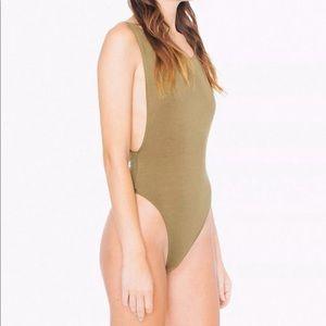 American Apparel deep cut bodysuit